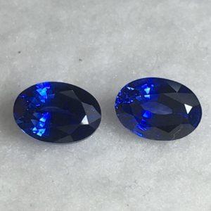 1.75 ctw Blue Sapphire Pair